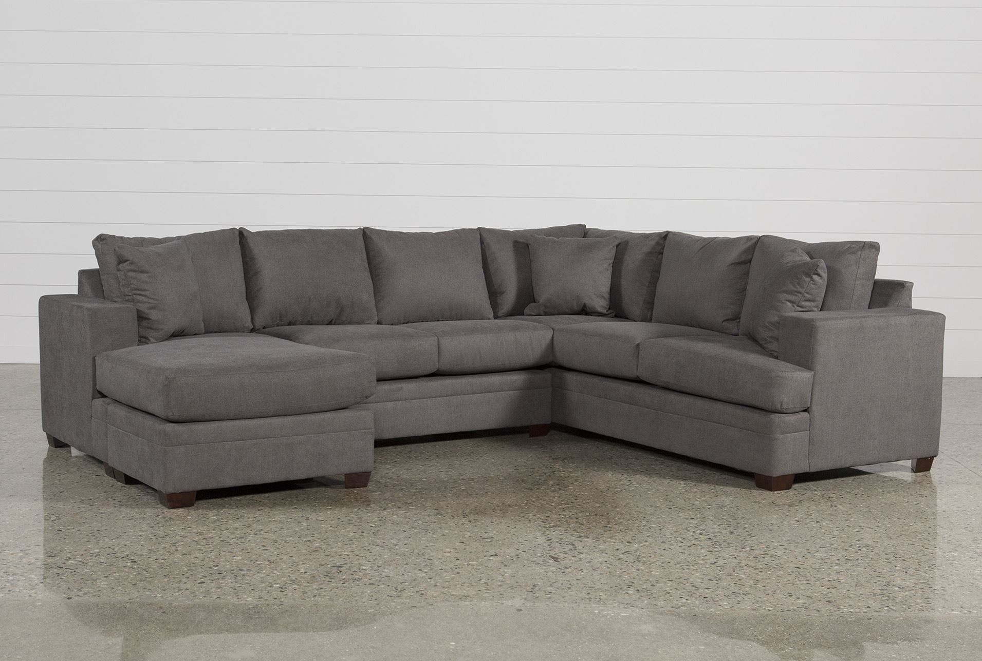Living Spaces Leather Sectional - Implantologiabogota.co with Tatum Dark Grey 2 Piece Sectionals With Laf Chaise