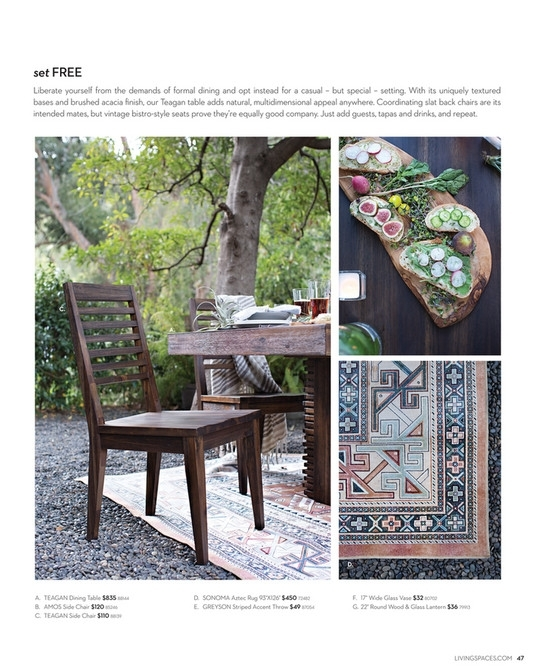 Living Spaces – Product Catalog – February 2016 – Teagan Extension Inside Teagan Extension Dining Tables (View 2 of 25)