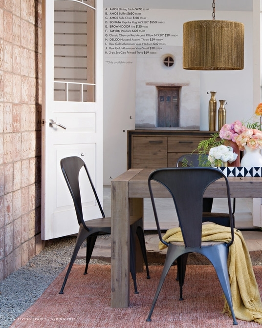 Living Spaces – Product Catalog – Spring 2017 – Amos Extension Intended For Amos Extension Dining Tables (Image 19 of 25)