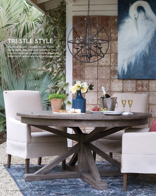 Living Spaces – Product Catalog – Spring 2017 – Partridge Dining Table Pertaining To Partridge Dining Tables (Image 9 of 25)