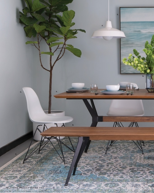 Living Spaces – Product Catalog – Spring 2017 – Weaver Dining Table Throughout Weaver Ii Dining Tables (View 2 of 25)