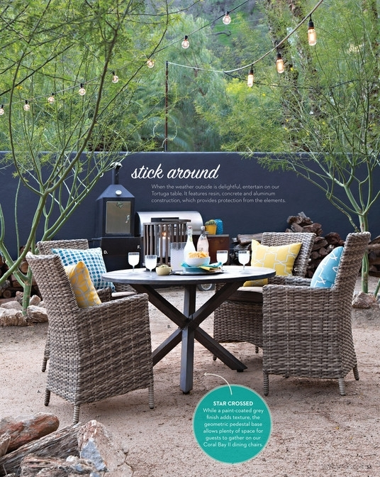 Living Spaces – Product Catalog – Summer 2016 – Outdoor Tortuga Inside Outdoor Tortuga Dining Tables (Image 3 of 25)