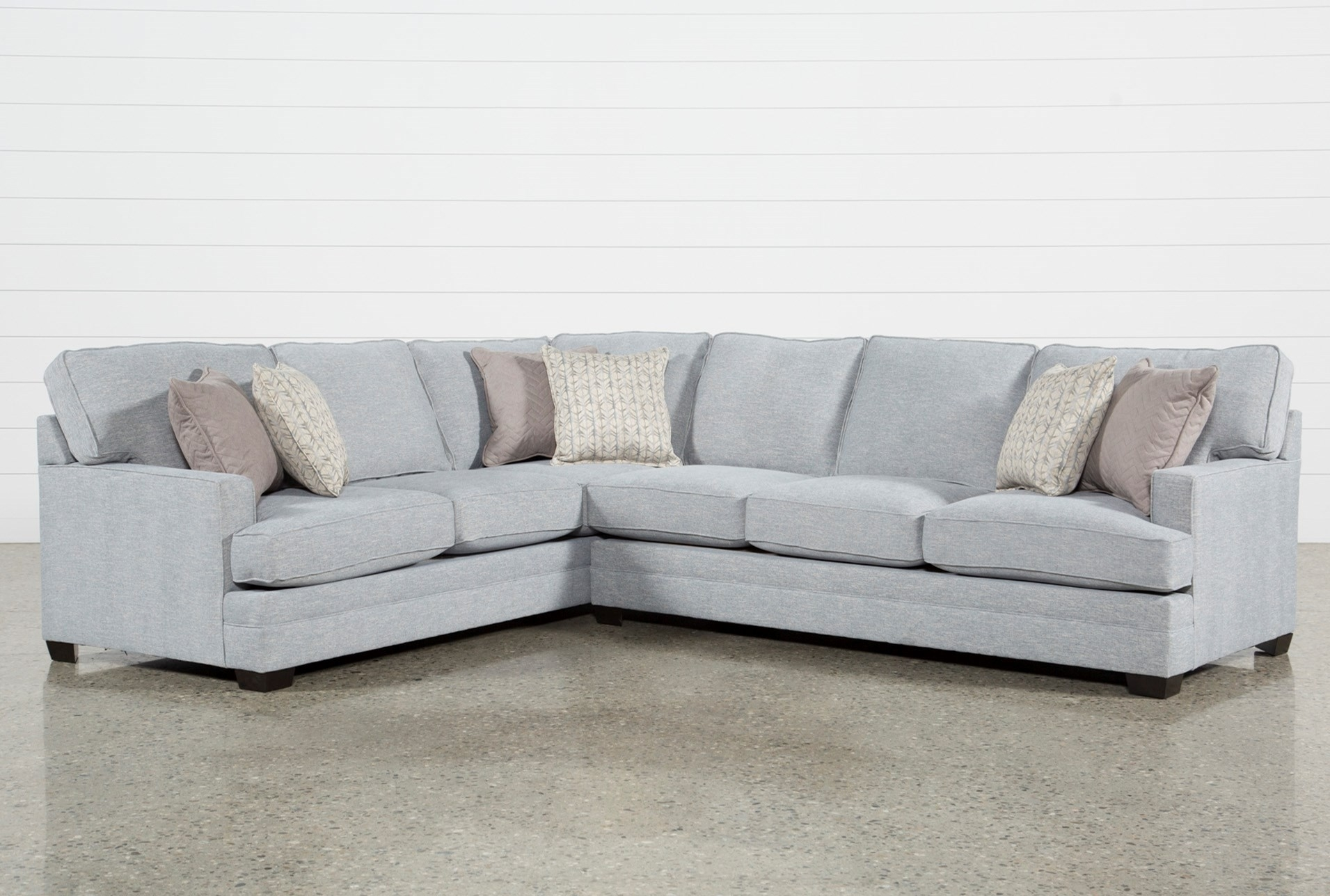 Living Spaces Sectional Cosmos Grey 2 Piece W Raf Chaise 206402 0 Regarding Cosmos Grey 2 Piece Sectionals With Raf Chaise (View 2 of 25)