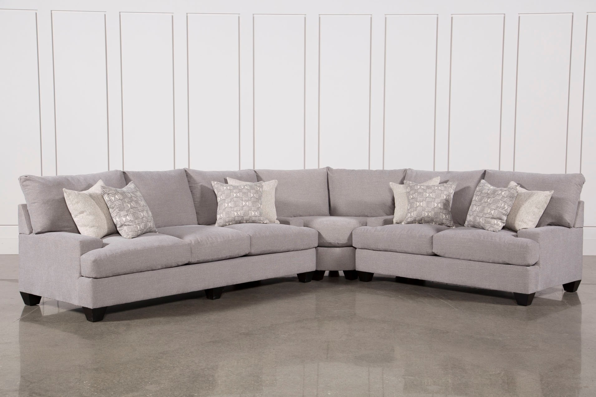 Living Spaces Sectional Cosmos Grey 2 Piece W Raf Chaise 206402 0 Throughout Cosmos Grey 2 Piece Sectionals With Laf Chaise (Image 14 of 25)
