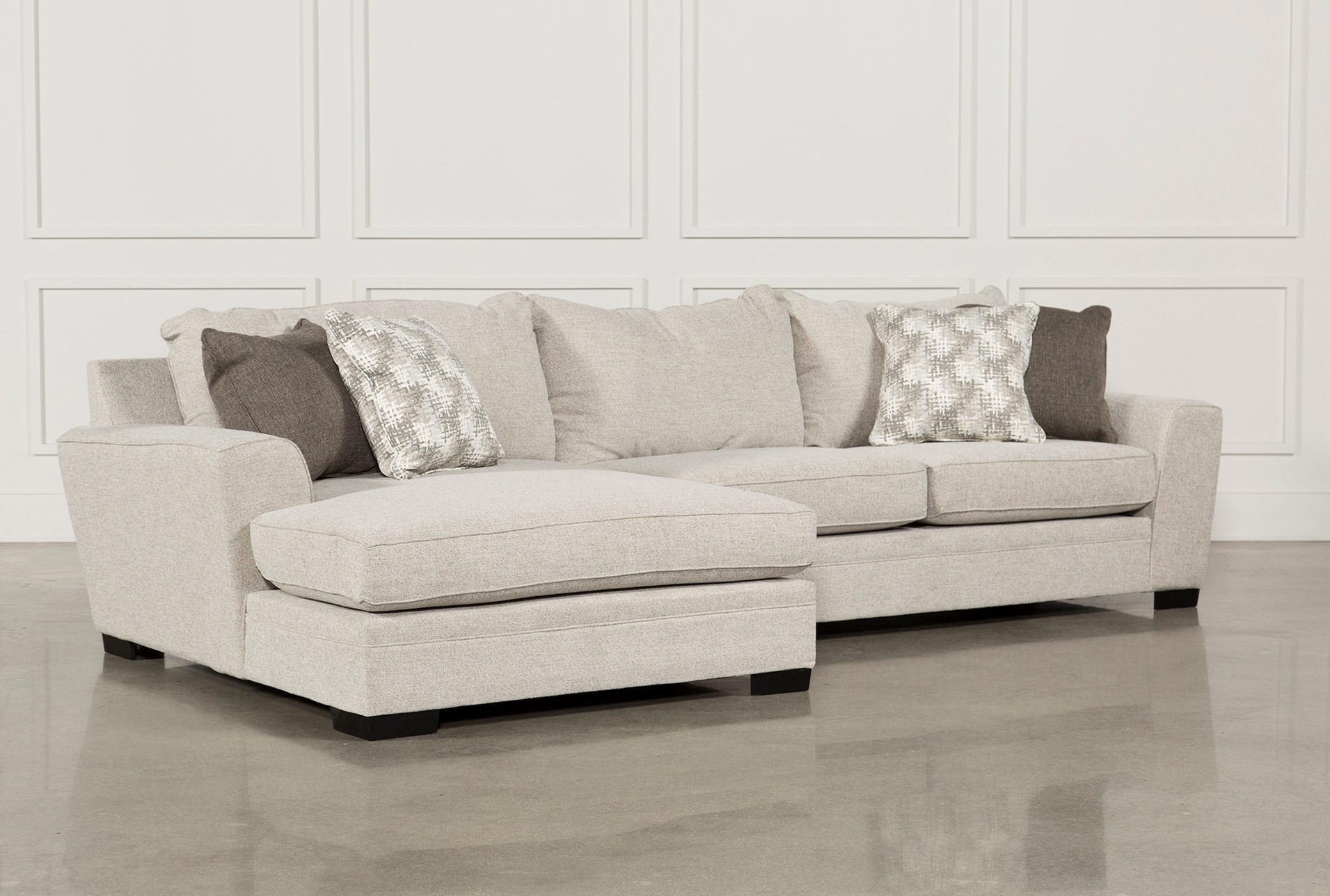 Living Spaces Sectional Couches Josephine 2 Piece W Raf Sofa 222882 With Regard To Josephine 2 Piece Sectionals With Raf Sofa (Image 15 of 25)