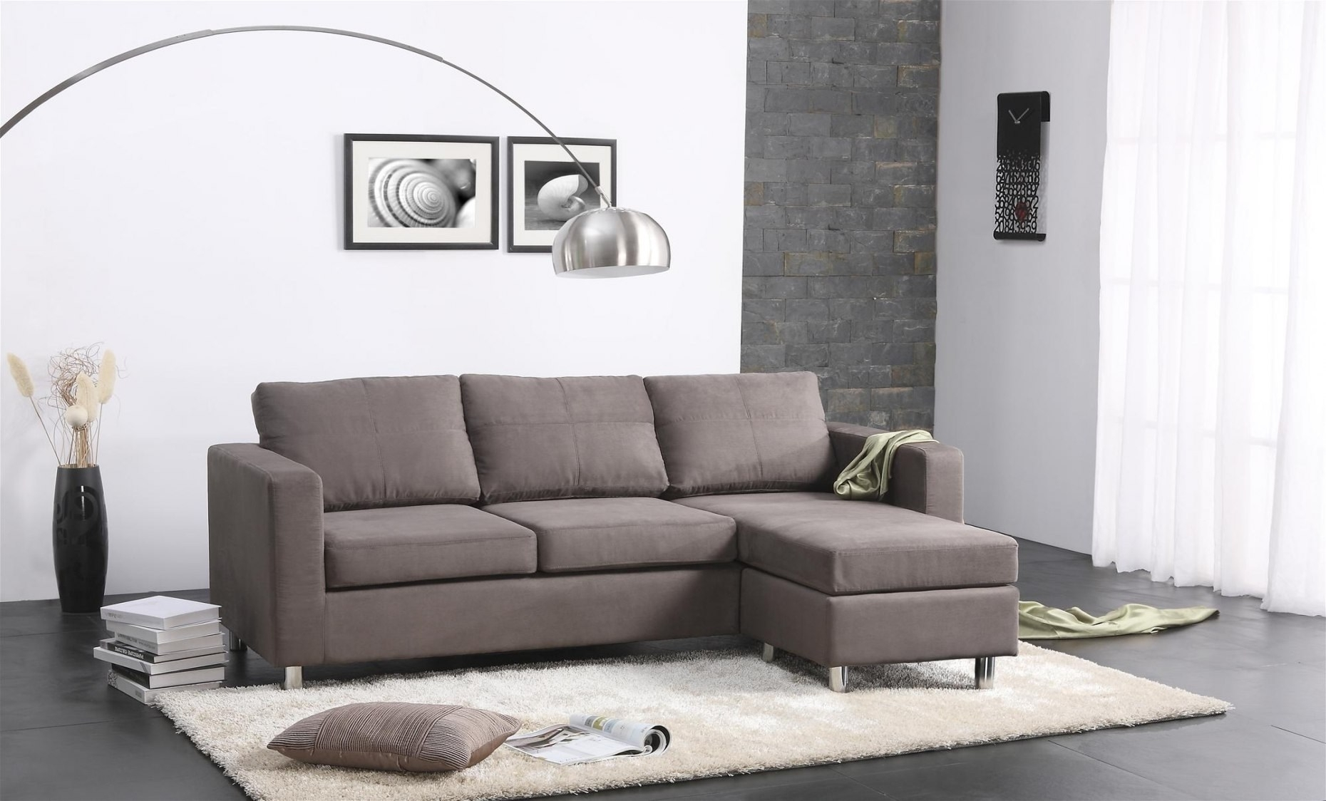 Living Spaces Sectional Couches – Tidex Within Delano Smoke 3 Piece Sectionals (Image 14 of 25)