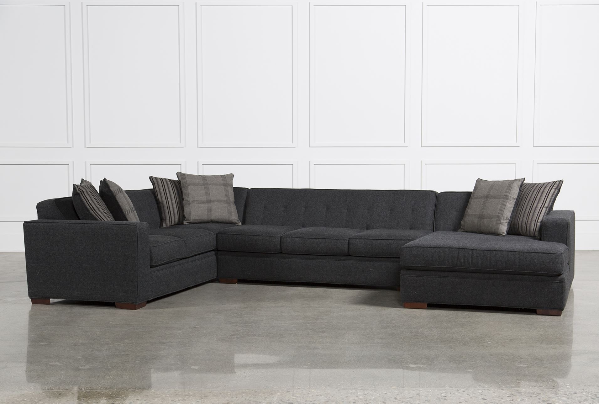 Living Spaces Sectional Sofas Delano 2 Piece W Laf Oversized Chaise Inside Delano 2 Piece Sectionals With Laf Oversized Chaise (Image 19 of 25)