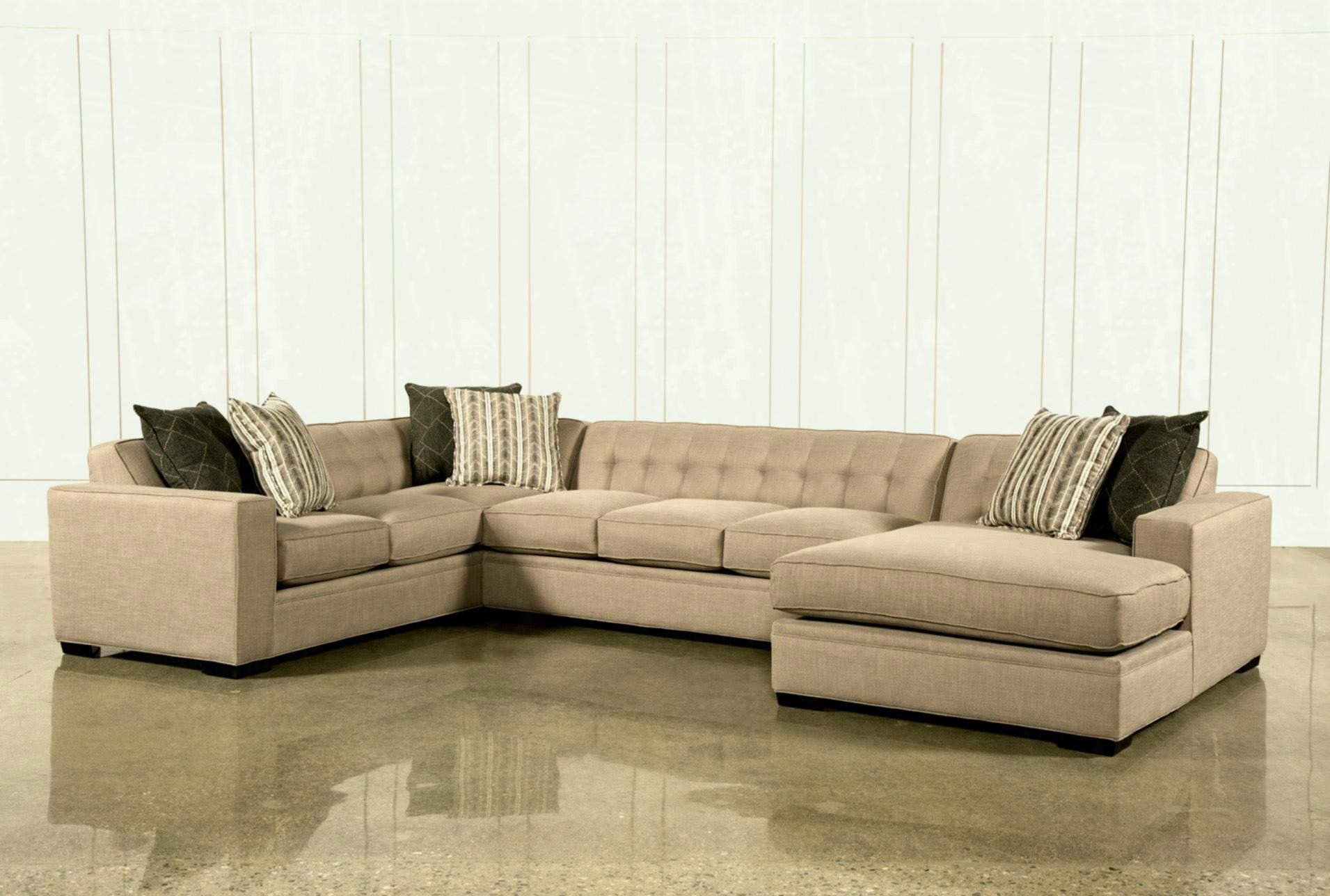 Living Spaces Sectional – Tidex Regarding Harper Foam 3 Piece Sectionals With Raf Chaise (View 25 of 25)