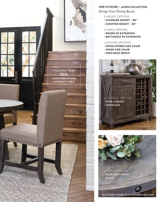 Living Spaces – Spring 2018 – Jaxon Grey Round Extension Dining Table Pertaining To Jaxon Grey Round Extension Dining Tables (Image 19 of 25)