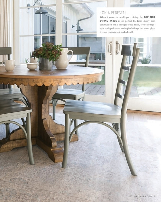 Living Spaces – Spring 2018 – Magnolia Home Top Tier Round Dining Pertaining To Magnolia Home Top Tier Round Dining Tables (View 2 of 25)
