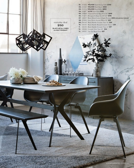 Living Spaces – Spring 2018 – Weaver 6 Piece Dining Set W/alexa Intended For Weaver Ii Dining Tables (Image 13 of 25)