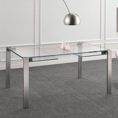Livingstone 160Cm Extraclear Glass Extending Dining Table Inside Glass Extending Dining Tables (View 9 of 25)
