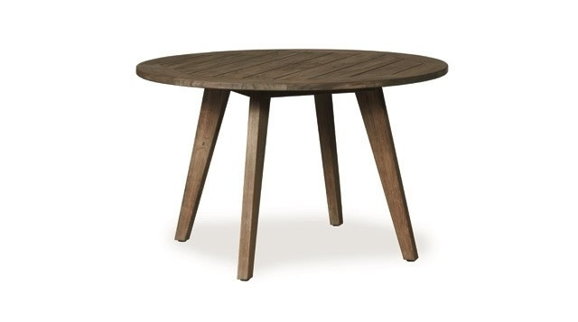 "Lloyd Flanders Wildwood 48"" Round Teak Dining Table – Wicker Dining Regarding Round Teak Dining Tables (View 18 of 25)"