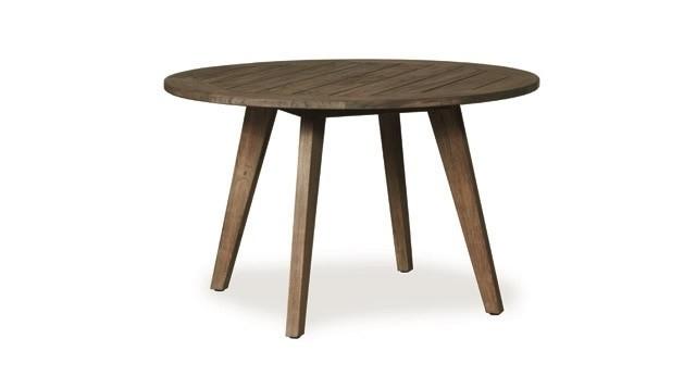 "Lloyd Flanders Wildwood 48"" Round Teak Dining Table – Wicker Dining Regarding Round Teak Dining Tables (Image 9 of 25)"