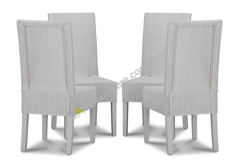 Lloyd Loom White Dynamo Dining Chairs X4 Lloyd Loom White Dynamo Pertaining To White Dining Chairs (Image 15 of 25)