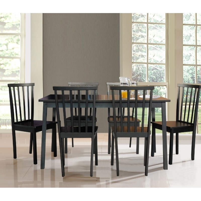 Logan 1+6 Dining Set Regarding Logan 6 Piece Dining Sets (Image 10 of 25)