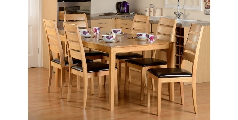 Logan Dining Table & 6 Chairs | Plfs With Logan 6 Piece Dining Sets (Image 15 of 25)