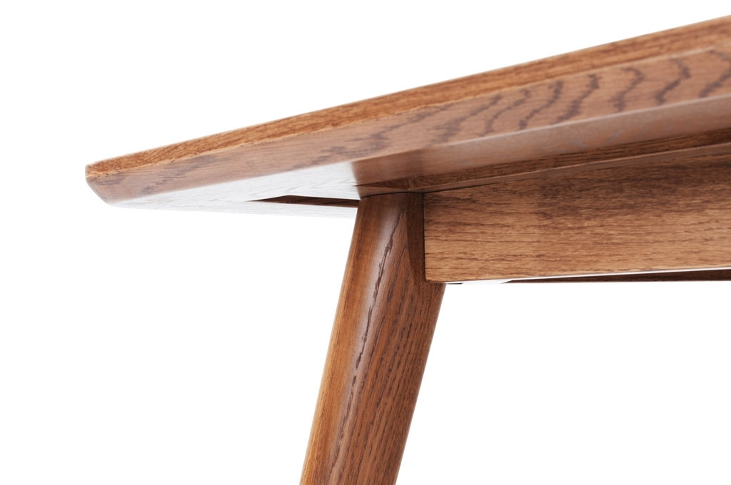 Logan, Retro Dining, Rectangle Table Large, Smoked Oak Legs Intended For Logan Dining Tables (Image 13 of 25)