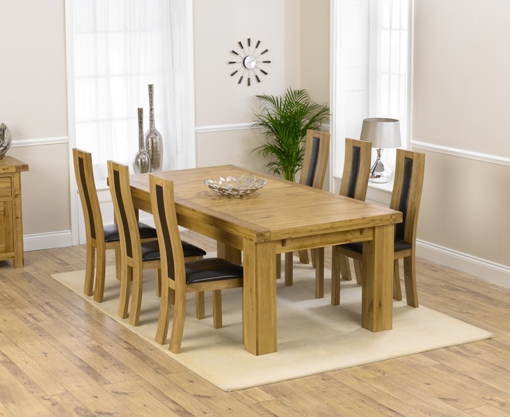 Loire 230Cm Solid Oak Extending Dining Table With Toronto Chairs Inside Solid Oak Dining Tables And 6 Chairs (View 12 of 25)
