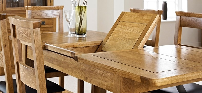 London Oak Extending Dining Table – Dining Tables – Dining Room Regarding Dining Tables London (Image 18 of 25)