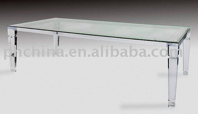 Long Crystal Clear Acrylic Dining Table,glass Top Top Grade Coffe Pertaining To Round Acrylic Dining Tables (View 15 of 25)