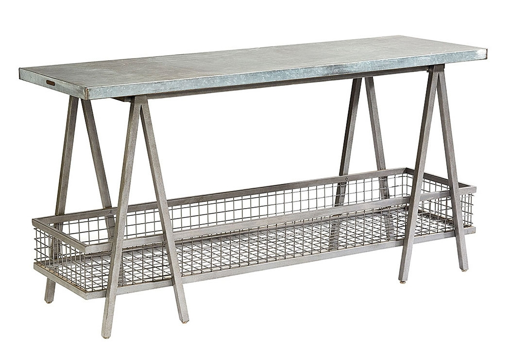 "Long Furniture – Rainbow City, Al ""the Shannon"" Zinc Top Table Within Magnolia Home Taper Turned Bench Gathering Tables With Zinc Top (Image 12 of 25)"