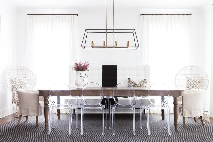 Long Oval Dining Table With Ghost Dining Chairs – Contemporary Throughout Oval Oak Dining Tables And Chairs (Image 10 of 25)