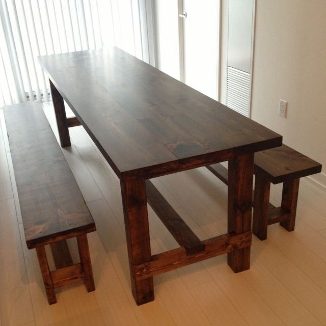 Long Skinny Table And Bench | Narrow Dining Table With Bench Within Narrow Dining Tables (Image 10 of 25)