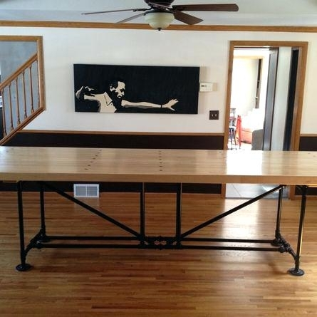 Long Thin Dining Table Elegant Skinny Dining Table For Your Counter With Thin Long Dining Tables (Image 12 of 25)