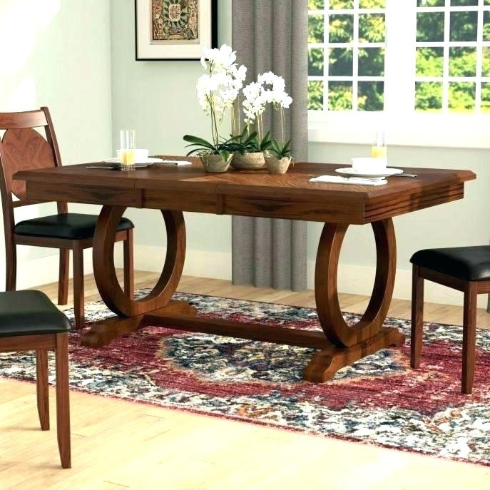 Long Wood Tables For Sale Long Wood Dining Tables Skinny Dining Regarding Large Circular Dining Tables (View 18 of 25)