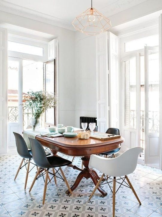 Look We Love: Traditional Table Plus Modern Chairs In 2018 Throughout Modern Dining Tables And Chairs (Image 10 of 25)