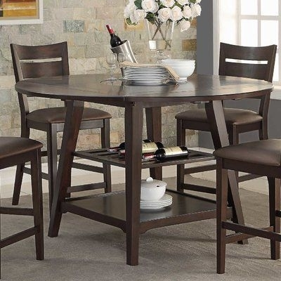"Loon Peak Caden 60"" Round Extendable Dining Table 