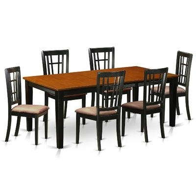 Loon Peak High Plain 5 Piece Dining Set & Reviews | Wayfair Throughout Chandler 7 Piece Extension Dining Sets With Wood Side Chairs (View 21 of 25)
