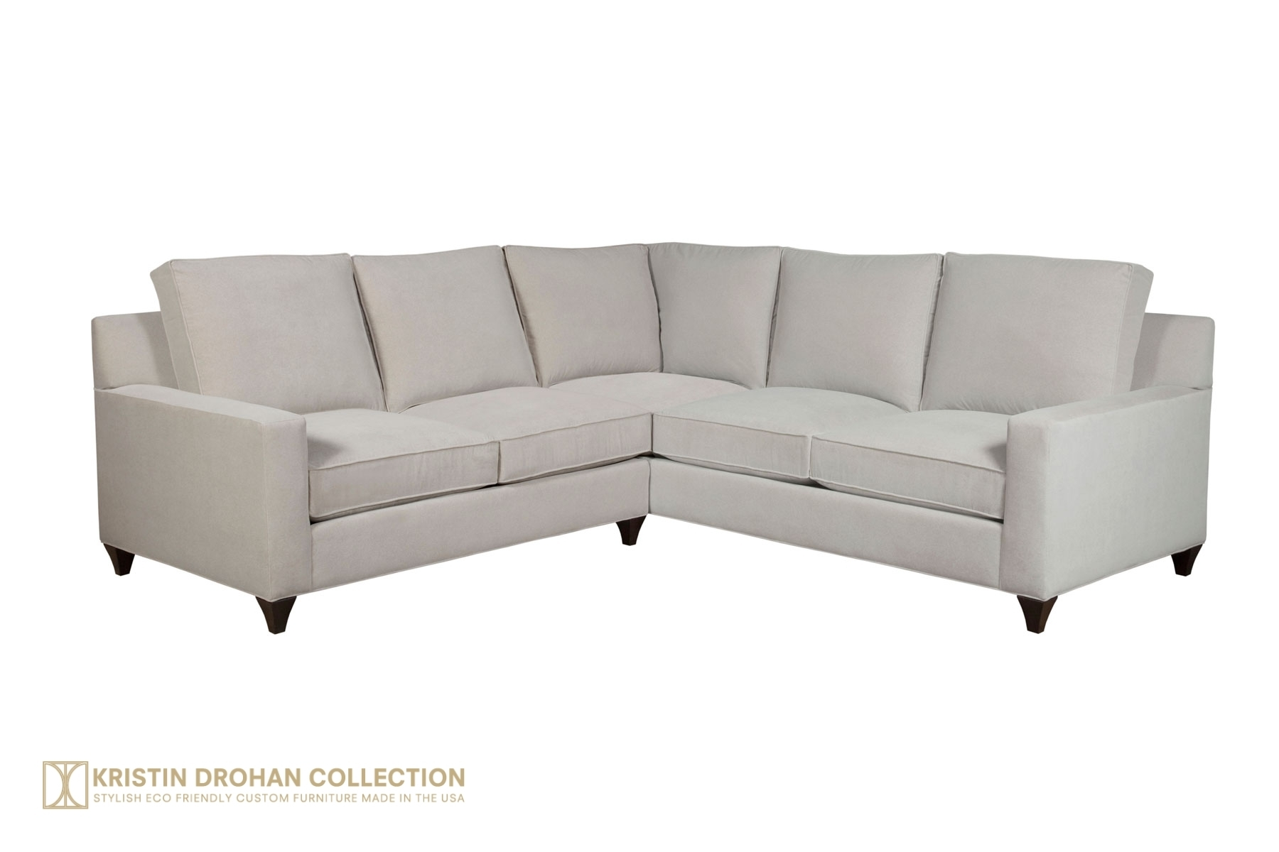 Loree Sectional - The Kristin Drohan Collection inside Kristen Silver Grey 6 Piece Power Reclining Sectionals