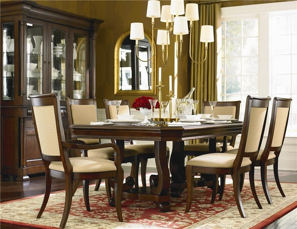 Louis Philippe 7 Piece Dining Room Setbassett | Remodeling In Throughout Norwood 7 Piece Rectangular Extension Dining Sets With Bench, Host & Side Chairs (Image 18 of 25)