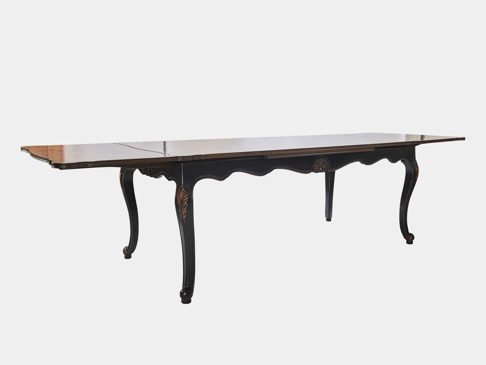 Louis Xv Style Large Extension Dining Table – French Accent intended for French Extending Dining Tables