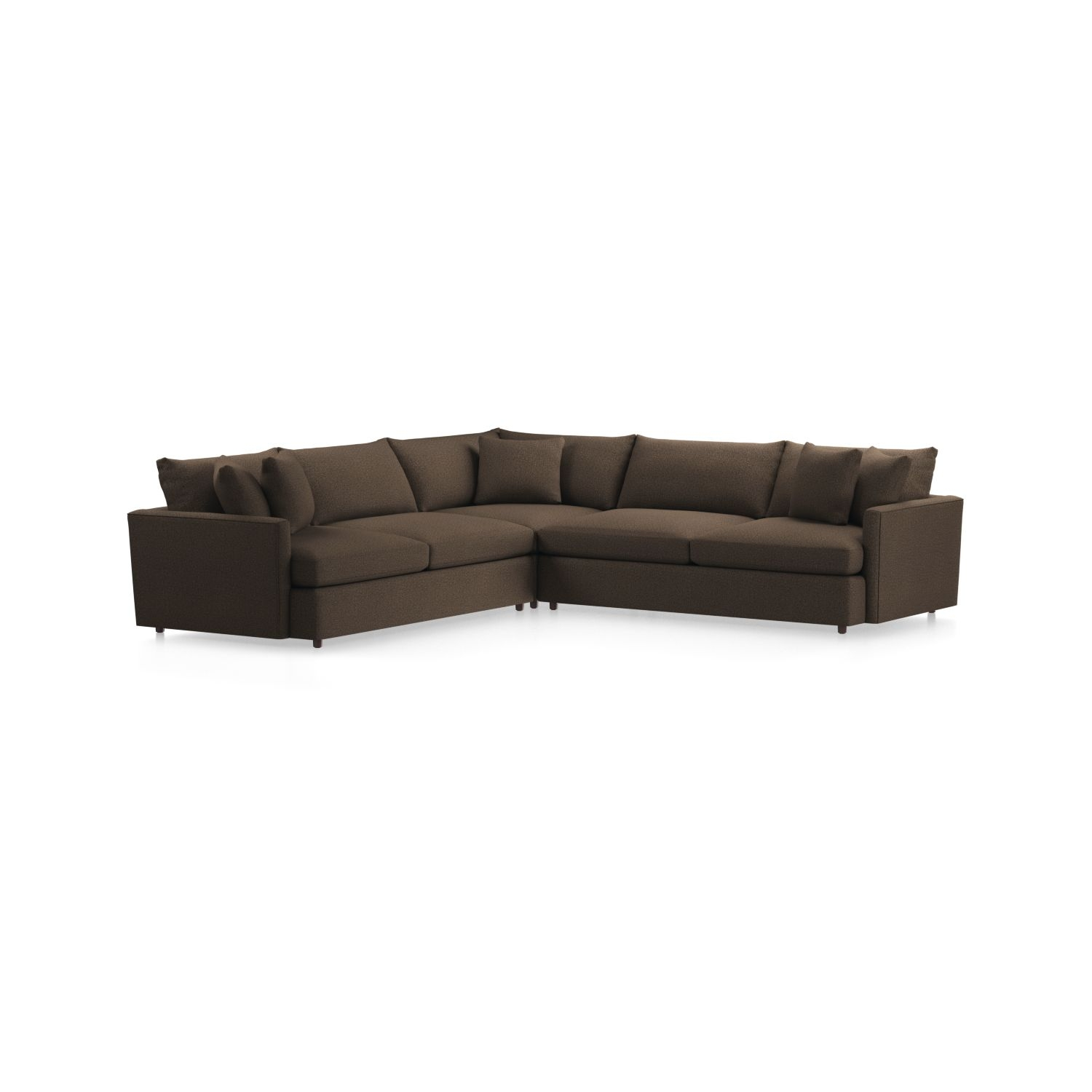 Lounge Ii 3 Piece Sectional Sofa + Reviews | Crate And Barrel With Regard To Glamour Ii 3 Piece Sectionals (View 12 of 25)