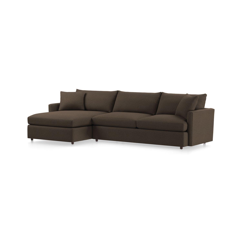 Lounge Ii Petite Sectional Sofa + Reviews | Crate And Barrel Regarding Elm Grande Ii 2 Piece Sectionals (Image 23 of 25)