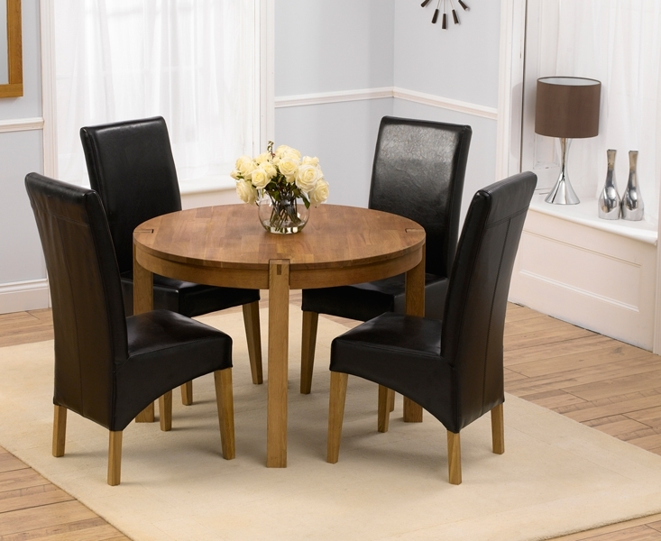 Lovable Round Dining Table Country Style Dining Chairs With Circular Dining Tables For (View 9 of 25)