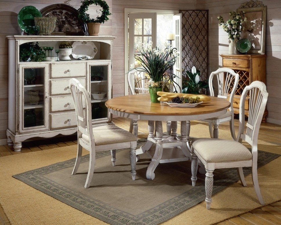 Lovable White Round Dining Table Set Small Round Dining Table White Intended For Extendable Round Dining Tables Sets (Image 17 of 25)