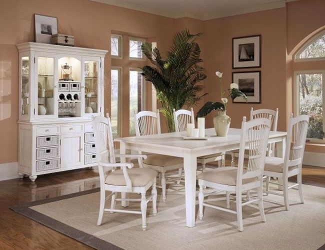 Love This White Dining Room Set With The Hutch; Esp (Image 16 of 25)