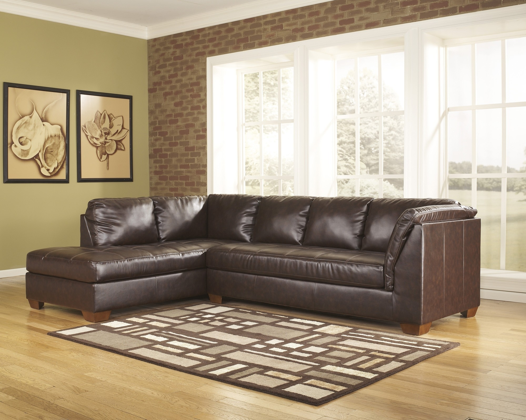 Lovely 2 Piece Sectional Sofa – Buildsimplehome Within Evan 2 Piece Sectionals With Raf Chaise (Image 20 of 25)