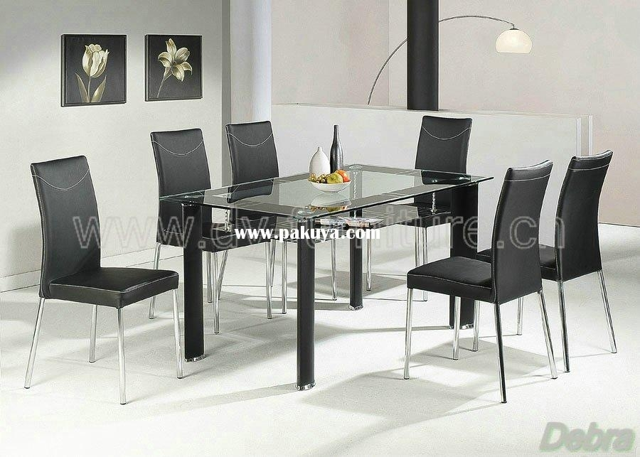 Lovely Dining Table Sets Glass Cheap Kitchen Table And Chair Sets Pertaining To Glass Dining Tables 6 Chairs (View 20 of 25)