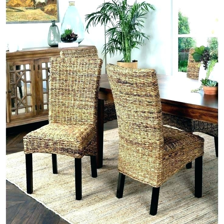 Lovely Wicker Dining Room Chairs Glass Dining Table With Wicker With Regard To Wicker And Glass Dining Tables (Image 9 of 25)