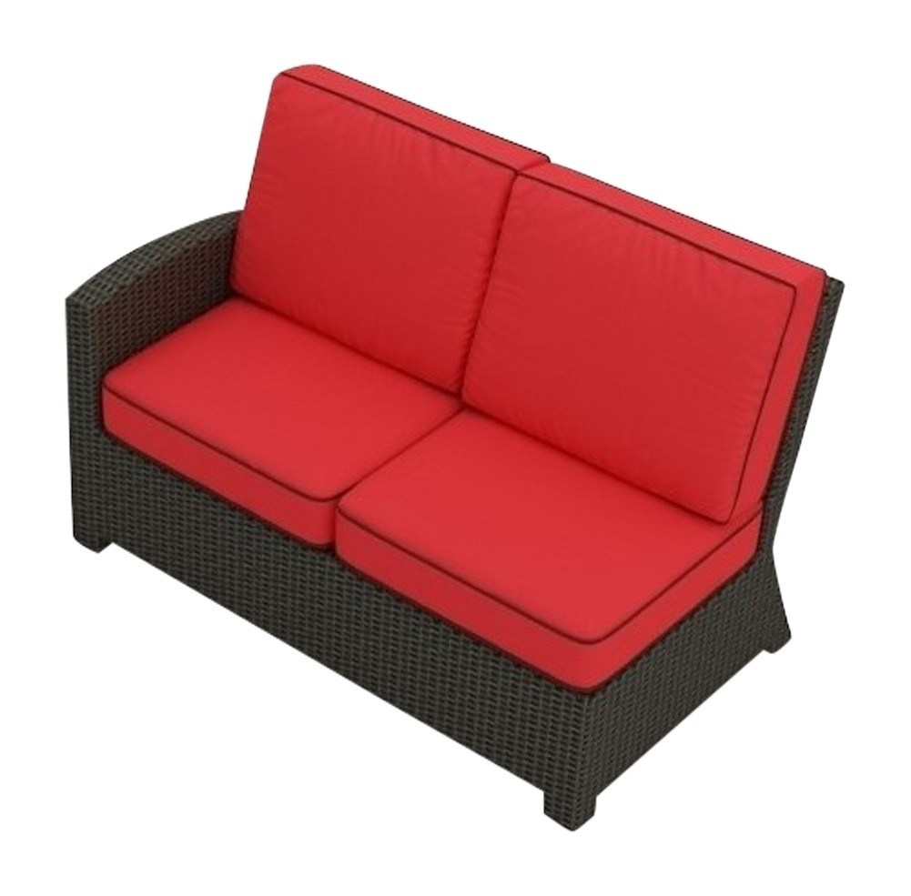 Loveseat Sectional | Whitecraftwoodard Mona Wicker Right Arm With Regard To Taron 3 Piece Power Reclining Sectionals With Left Facing Console Loveseat (Image 16 of 25)