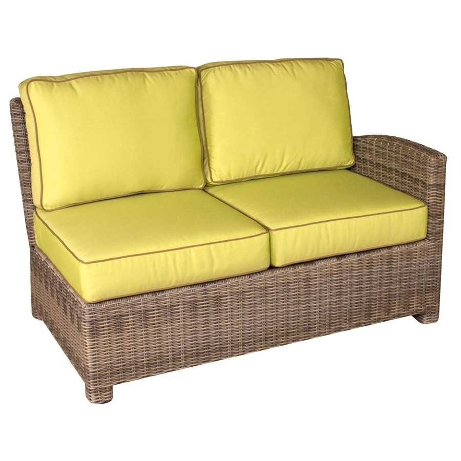 Loveseat Sectional | Whitecraftwoodard Mona Wicker Right Arm With Regard To Taron 3 Piece Power Reclining Sectionals With Right Facing Console Loveseat (Image 15 of 20)