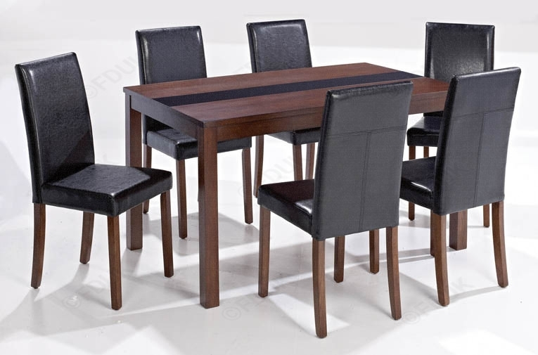 Lpd Ashleigh | Ashleigh Walnut Large Dining Set With 6 Chair Throughout Walnut Dining Table And 6 Chairs (Image 16 of 25)
