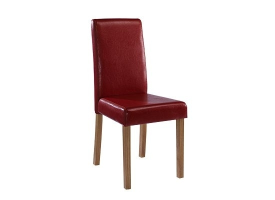 Lpd Furniture Oakridge Red Faux Leather Dining Chair From The Bed With Regard To Red Leather Dining Chairs (Image 12 of 25)