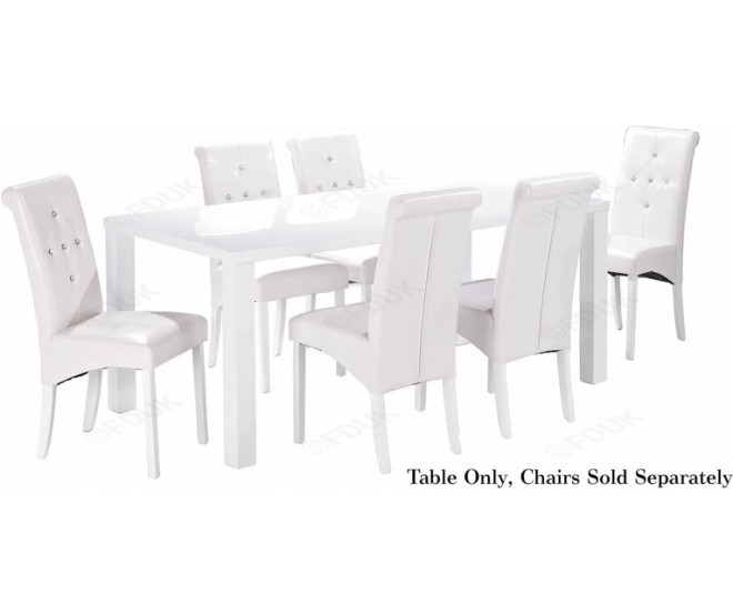 Lpd Monroe | Monroe White High Gloss Dining Table Within Large White Gloss Dining Tables (View 22 of 25)