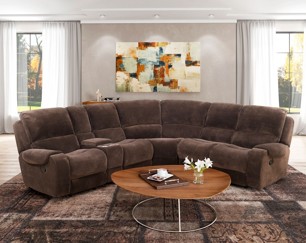 Lubbock Chocolate Motion Sectional | American Freight Throughout Norfolk Chocolate 6 Piece Sectionals (Image 15 of 25)